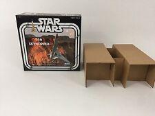 Custom Vintage Star Wars t-16 Skyhopper box et inserts