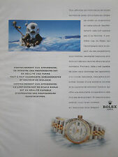 1990'S PUB ROLEX LADY DATEJUST SYLVIA EARLE OCEANOGRAPHE SCAPHANDRE FRENCH AD
