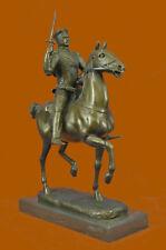 Hand Made by Lost wax Method Knight Warrior Soldier Bronze sculpture Figurine S