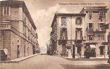 Cartolina - Terranova Pausania Piazza Regina Margherita animata VG