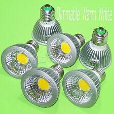 6PCS E27/E26 PAR20 15W COB LED Dimmable Warm White Bulb Lamp Down SpotLight 110V