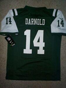 *IRREGULAR* New York Jets SAM DARNOLD nfl NIKE Jersey Youth Kids Boys (L-LARGE)