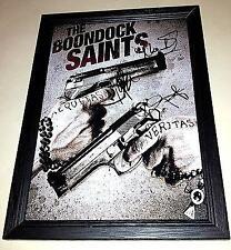 """BOONDOCK SAINTS PP CAST X3 SIGNED & FRAMED POSTER 12""""X8"""" WILLEM DAFOE"""