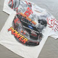Vintage 90s NASCAR Kevin Harvick Autographed Racing All Over Print shirt Size XL