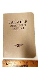 1932 LA SALLE  - Owner's Manual - NOS (US)
