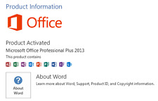 MS Office 2013 Professional  Plus Suites for 1 windows/pc
