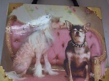 Two Dogs Rhinestone Collar Braciano Fine Cigars Box Purse Handbag Brass Fittings