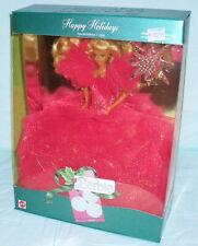 Happy Holidays Blonde Barbie NRFB 1990 NR