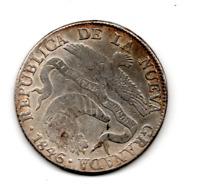 COLOMBIA REPUBLICA DE LA NUEVA GRANADA SILVER 8 OCHO REALES 1846 RS HIGH GRADE