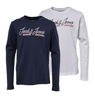 Boys Jack And Jones Casual Long Sleeve Jersey T Shirt Sizes Age from 7 to 14 Yrs