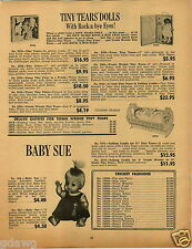 1965 PAPER AD Tiny Tears Doll Baby Sue Tammy Pebbles Bamm Bamm Betsy MaCall
