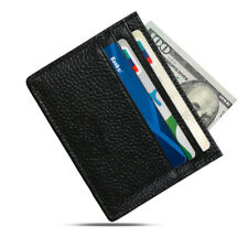 SOFT LEATHER MENS SMALL ID CREDIT CARD MONEY WALLET HOLDER SLIM CASE POCKET