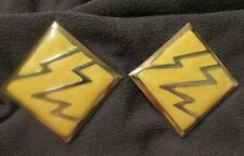 Vintage yellow Earring clip on ​ button  #retro #mod #80s goldtone #funky COOL!