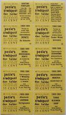 Stadspost Den Helder 1983 - Velletje v 10 betaalzegels met diverse teksten 53-94