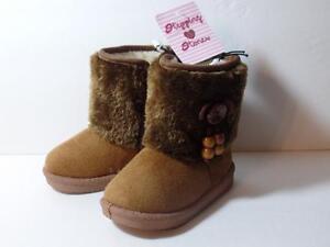 New Stepping Stones Winter Brown Faux Fur Boots w/ Sherpa Fleece Lining Sz 7, 10