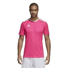 New adidas Men's Entrada 18 Jersey Soccer Shirt Pink White CZ1070