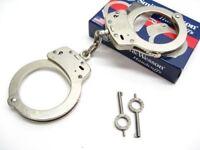 Smith & Wesson S&W 350103 Chain Link Model 100 Nickel Handcuffs + Keys