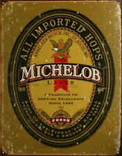 Michelob Beer Vintage Retro Tin Metal Sign 13 x 16in