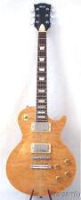LP style Electric Guitar,curl maple & mahogany,MOP inlaid,shiny polish,Leg-19@!