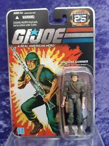 G.I. Joe 25th ANNIVERSARY 1982 -2007 MACHINE GUNNER SSGT ROCK N ROLL MOC 2007