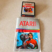 ET The Extra-Terrestrial Atari 2600 Game Cartridge 1982 with Manual