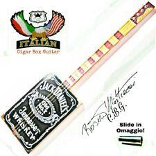 Cigar Box Guitar mod. J-D, 4 corde, pick-up piezoelettrico tasti medium.
