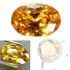10x14mm Gem Oval Shape Yellow Sapphire Natural Loose Gemstone Jewelry Gifts FT