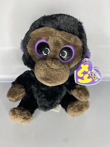 Romeo Gorilla Ty Beanie Boo Rare Purple Tags Solid Eyes