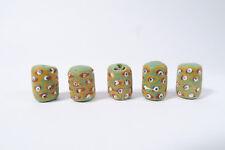 5 vecchie perle in vetro ad28 Old Fancy Venetian BEADS MURANO Africa Trade Perles
