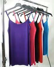 Womens Ladies Plus Size Strappy Vest Tops in variety of colours size 16-32