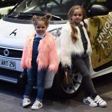 Fur Jackets For Girls Spring Kids Jacket Coats Waterfall Baby Girl Faux Fur Coat