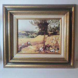 """Vintage Pieter, The Elder Brueghel Flemish """"The Harvesters"""" Framed Art Print"""