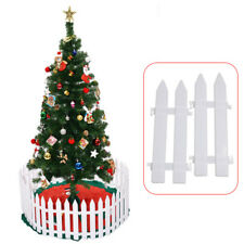 New listing 5Pcs White Fence Christmas Tree Garden Fencing Lawn Edging Home Yard Fence