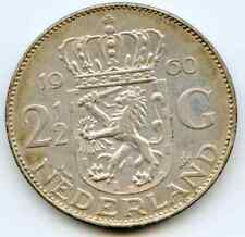 Netherlands  2 1/2 Gulden  1960  lotfeb4970