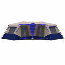 Large Camping Tent Instant 10 Person Cabin Blue Outdoor Shelter Family Hiking