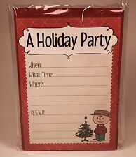 "Hallmark Peanuts Invitation ""A Holiday Party"" Charlie Brown Pack of 10"
