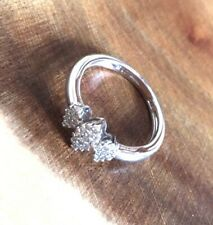 9ct White Gold Diamond Cluster Engagement Ring Marquise SALE Was £318