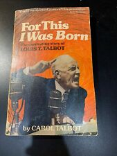For This I Was Born by Carol Talbot