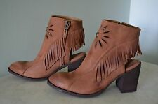 NWT OLD GRINGO-Dulcinea-10-Brown-Leather-Fringe/Floral Western/Hippie-Orig$290
