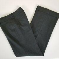 Banana Republic Martin Fit Pants Size 0 Wool Blend Gray Cuffed Lined