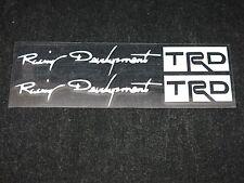 "New 2pcs Silver Color ""Racing Development TRD"" Car Sign Decal Sticker"