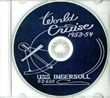 USS Ingersoll DD 652 1953-54 World Cruise Book CD RARE
