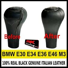 BMW E30 E34 E36 E46 M3 BLACK GENUINE LEATHER GEAR KNOB COVER NEW COVER ONLY