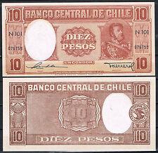 CHILE - BILLETE 10 PESOS (1947/58) Pick # 111   SC  UNC