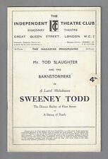 "Tod Slaughter ""SWEENEY TODD"" (Before Sondheim) Barnstormers 1932 London Playbill"