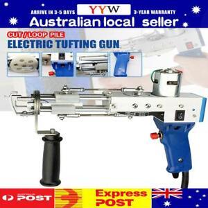 Electric Carpet Tufting Gun Weaving Machine Cut Pile Flocking Knitting Kit AU