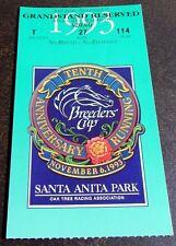 1993 SATURDAY BREEDERS CUP ADMISSION & GRANDSTAND TICKETS PLUS PROGRAM - MINT