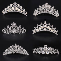 12 Style Hair Comb Crystal Flower Pearl Tiara Crown Bridal Wedding Party Jewelry