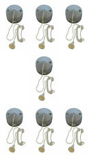 7 x Chrome Effect Ceiling Pull Switches (for Lighting Circuits) 6 amp 1 or 2 Way