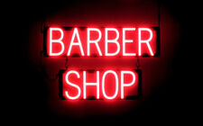 SpellBrite Ultra-Bright BARBER SHOP Sign (Neon look, LED performance)